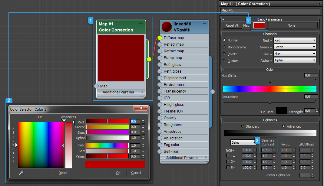 Precise color in linear workflow