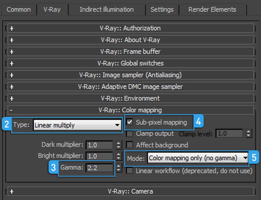 Vray 2.4 settings linear workflow