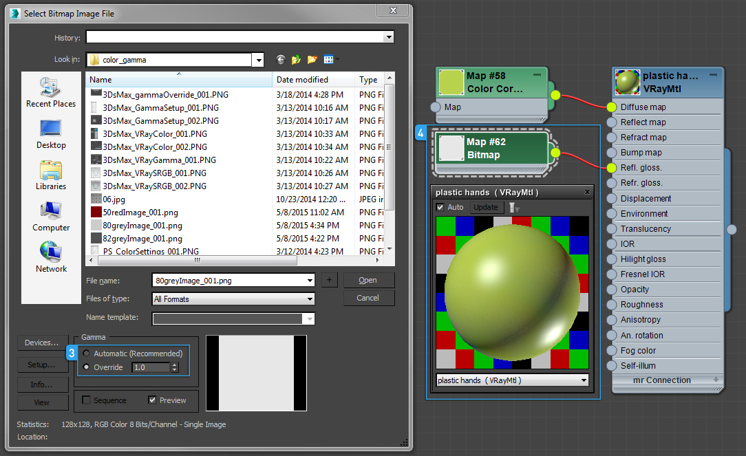 Gamma settings for linear workflow