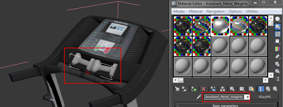 how to use individual materials in material editor for Scene Management