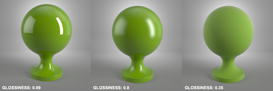 Glossiness Vray