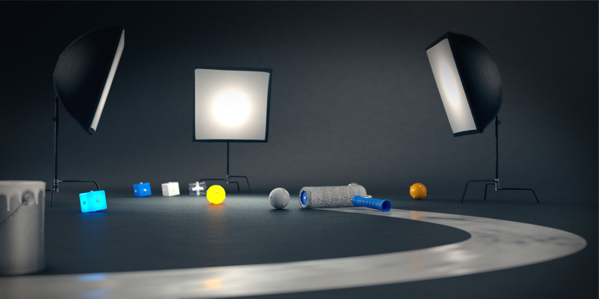 Setting up light rig in 3D