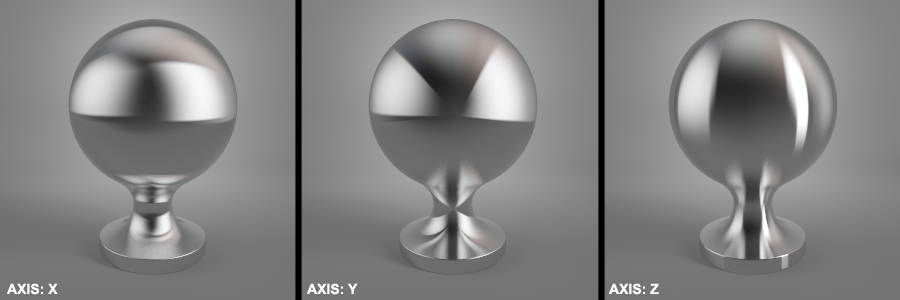 Anisotropy Axis Vray