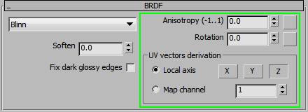 BRDF Anisotropy Vray