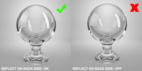 Vray Material Glass Back Side