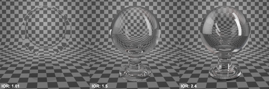 Refraction IOR Vray