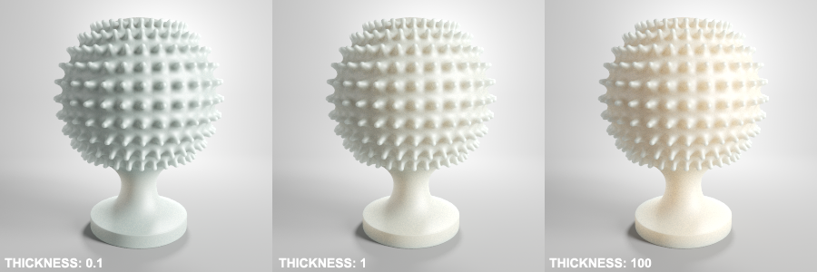 Vray Translucent Thickness