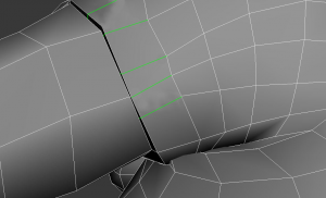 example of making the sleeve and arm separate objects with T-vertices