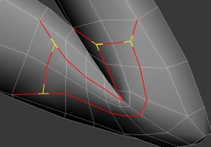 example of T-vertices in insert method