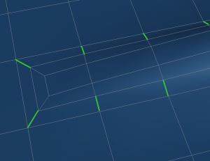 example of rings of edges with T-vertices