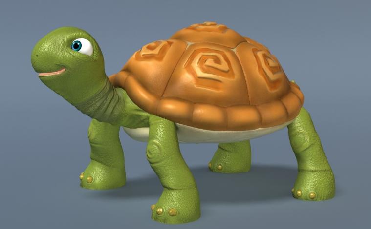 Non-Mutant, Non-Ninja  Toon Turtle by 3d Artist Kama MT