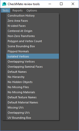 Isolated Vertices in Maya