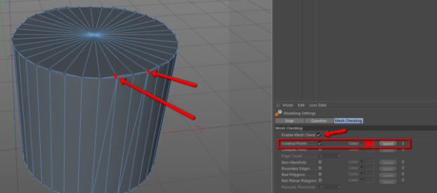 Isolated Vertices in Cinema 4D