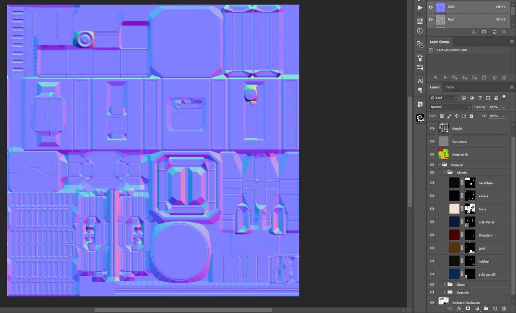 Marmoset Toolbag 3 Photoshop Export
