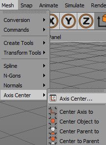 how to center at the origin in Cinema 4D