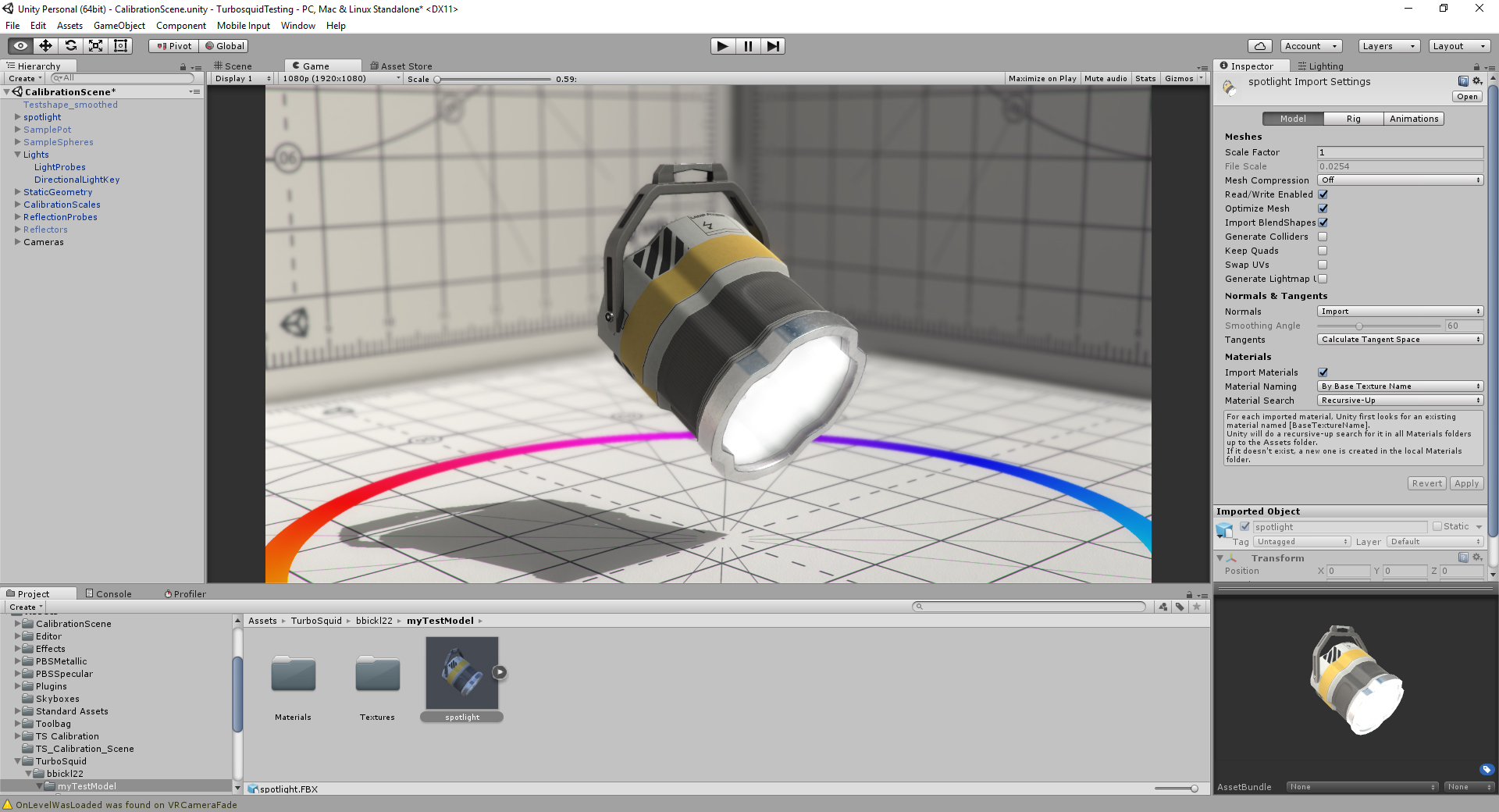 3D Model in Unity Engine